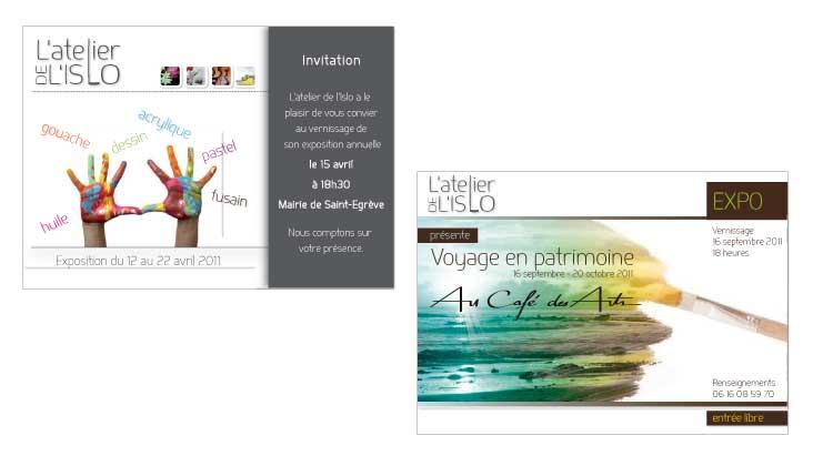 Invitations Atelier de l'Islo