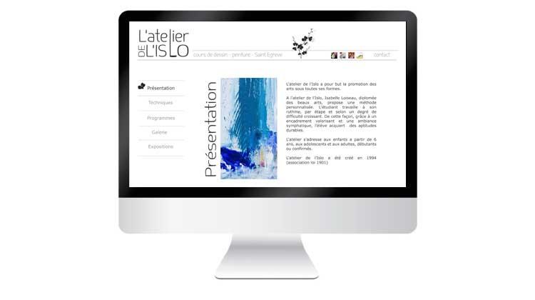 Site web Atelier de l'Islo