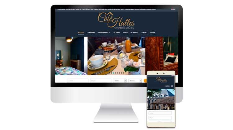 Site internet Côté Halles Chambres d'hôtes