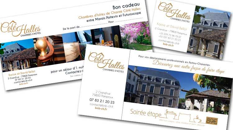 Communication papier Côté Halles Chambres d'hôtes